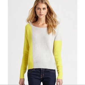 360 Cashmere Neon Color Block Sweater